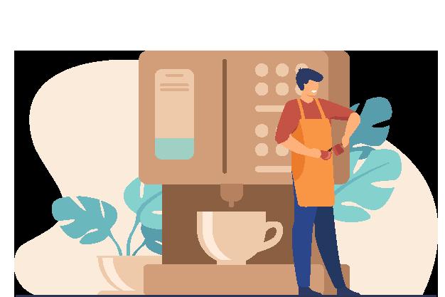 خدمات لغة القهوة لإنشاء المقهى
